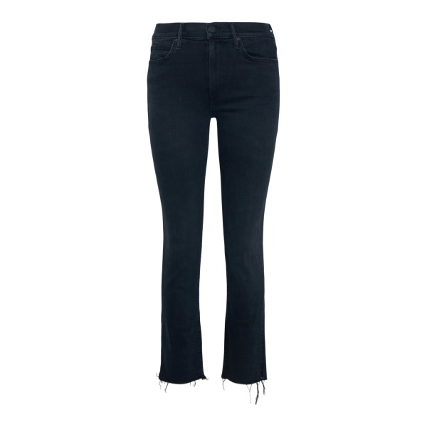 Black cropped jeans with frayed edges                                                                                                                 Mother 1854 back