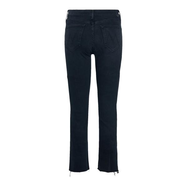 Jeans crop neri con orli sfrangiati                                                                                                                    MOTHER                                             MOTHER