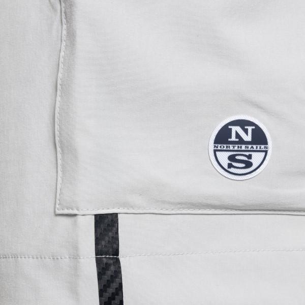 Bermuda grigi stile cargo con patch logo                                                                                                               NORTH SAILS                                        NORTH SAILS