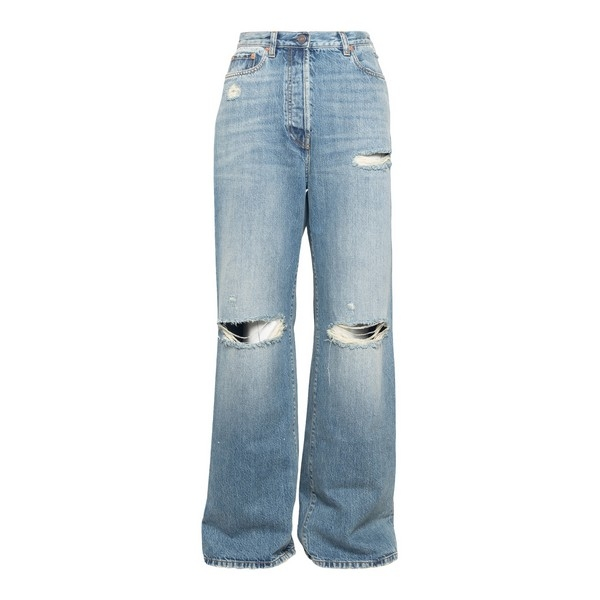 Distressed effect jeans                                                                                                                               Gucci 638045 front