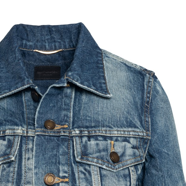 Denim jacket with a worn effect                                                                                                                        SAINT LAURENT