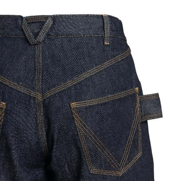 Jeans a vita alta in denim blu                                                                                                                         BOTTEGA VENETA                                     BOTTEGA VENETA