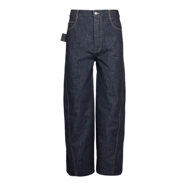 Wide leg blue jeans                                                                                                                                   Bottega veneta 648703 front