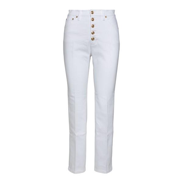 Jeans bianchi con bottoni oro                                                                                                                         Tory Burch 64932 retro