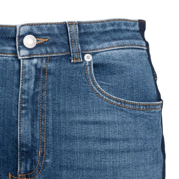 Jeans blu svasati con dettagli a contrasto                                                                                                             ALEXANDER MCQUEEN ALEXANDER MCQUEEN