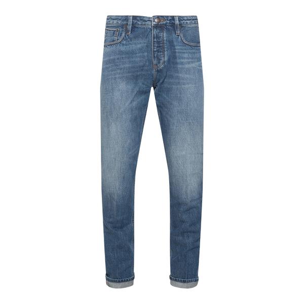 Jeans dritti in colore blu                                                                                                                            Emporio Armani 6K1J75 retro