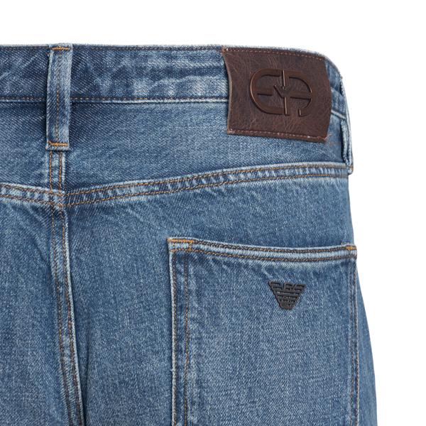 Straight jeans in blue color                                                                                                                           EMPORIO ARMANI
