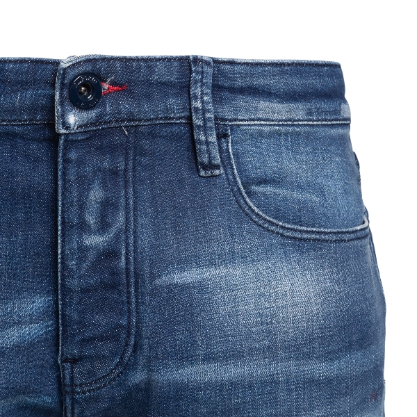 Blue jeans with a worn effect                                                                                                                          EMPORIO ARMANI