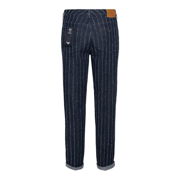 Jeans blu a righe                                                                                                                                      EMPORIO ARMANI                                     EMPORIO ARMANI