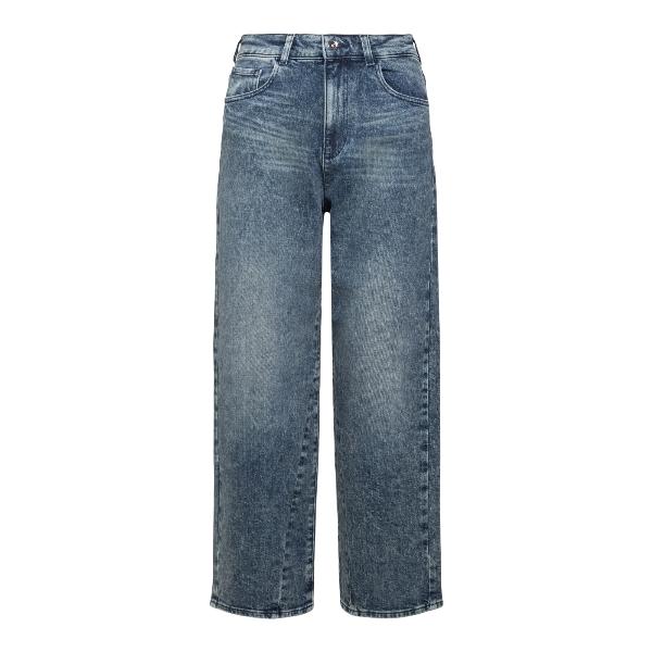Jeans a gamba ampia blu con logo                                                                                                                       EMPORIO ARMANI                                     EMPORIO ARMANI