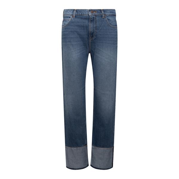 Jeans blu con risvolti                                                                                                                                Emporio Armani 6K2J51 retro