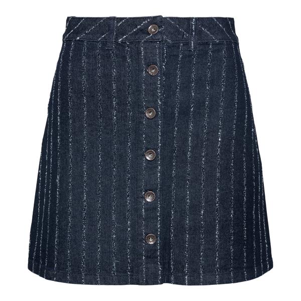 Blue striped denim mini skirt                                                                                                                         Emporio Armani 6K2N68 back