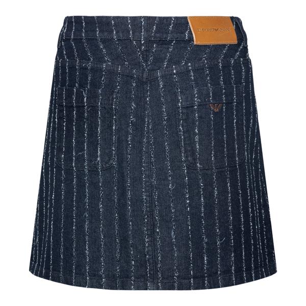 Minigonna blu a righe in jeans                                                                                                                         EMPORIO ARMANI                                     EMPORIO ARMANI