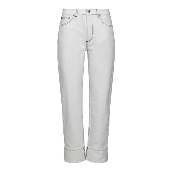 White jeans with contrasting stitching                                                                                                                Burberry 8039282 back