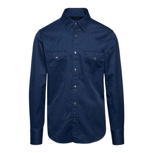 Dark blue denim shirt                                                                                                                                 Tom ford 94MEKI front