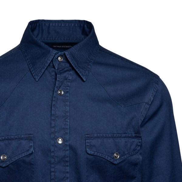 Dark blue denim shirt                                                                                                                                  TOM FORD