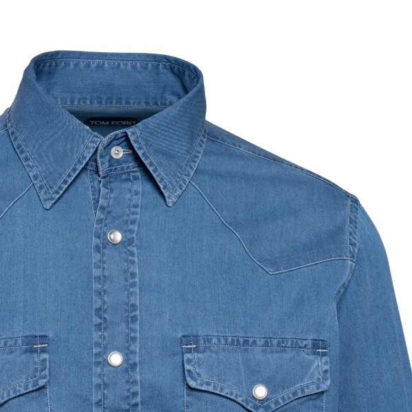 Camicia blu chiaro in denim                                                                                                                            TOM FORD                                           TOM FORD