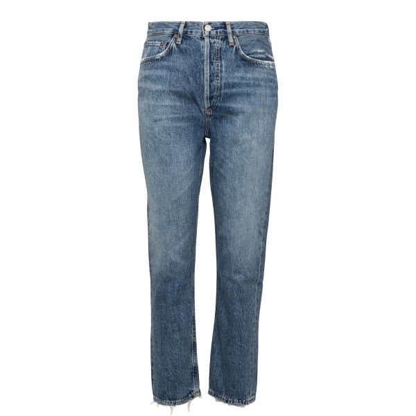 Distressed-effect blue jeans                                                                                                                          Agolde A056C back