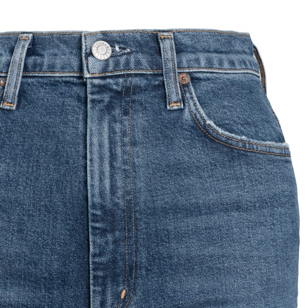 High-waisted flared blue jeans                                                                                                                         AGOLDE