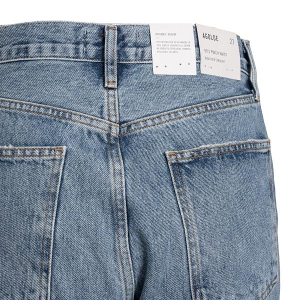 Light blue high-waisted jeans                                                                                                                          AGOLDE