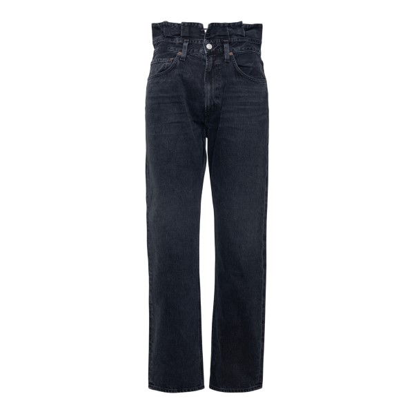 Black jeans with gathered waist                                                                                                                       Agolde A170 back