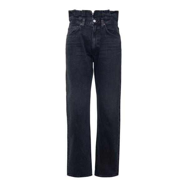 Jeans neri con arricciature in vita                                                                                                                   Agolde A170 retro
