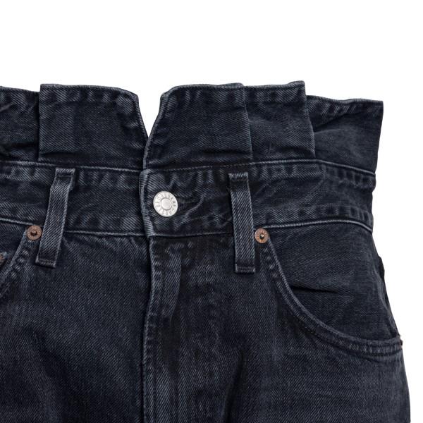 Jeans neri con arricciature in vita                                                                                                                    AGOLDE                                             AGOLDE