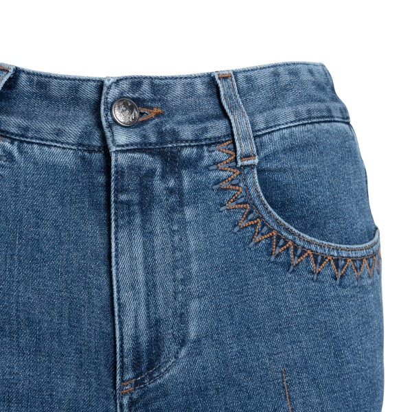 Jeans blu svasati con stampa logo                                                                                                                      CHLOE'                                             CHLOE'