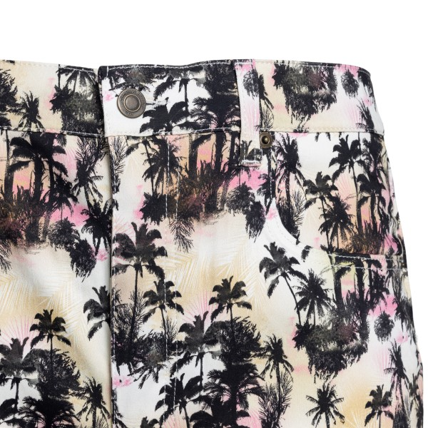 Multicolored trousers with tropical print                                                                                                              GARCONS INFIDELES