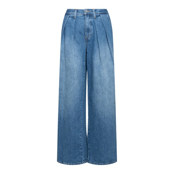 Blue flared jeans with pleats                                                                                                                         Alice+olivia CD736200NTY back