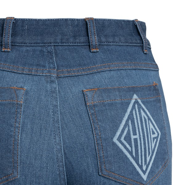 Blue jeans with logo print                                                                                                                             CHLOE'