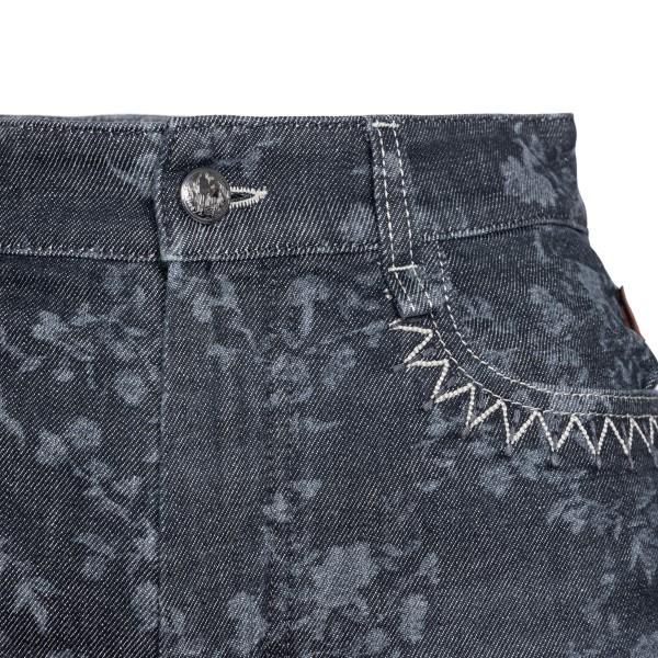 Pantaloncini in denim neri con fiori                                                                                                                   CHLOE'                                             CHLOE'