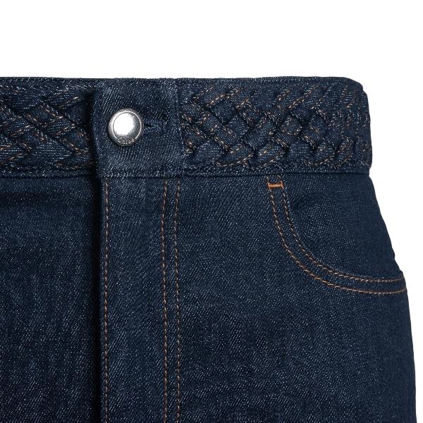 Midi skirt in blue denim                                                                                                                               CHLOE'