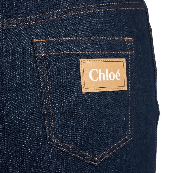 Gonna midi in denim blu                                                                                                                                CHLOE' CHLOE'