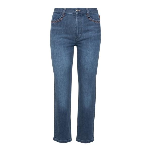 Jeans blu con stampa                                                                                                                                  Chloe' CHC21SDP15 retro