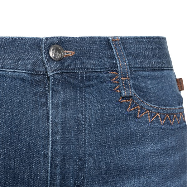 Blue jeans with print                                                                                                                                  CHLOE'