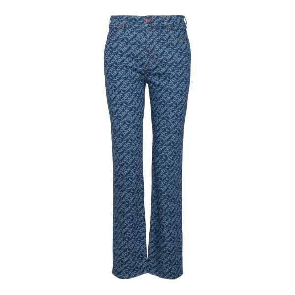 Jeans with logo motif                                                                                                                                 See By Chloe CHS21ADP02 back