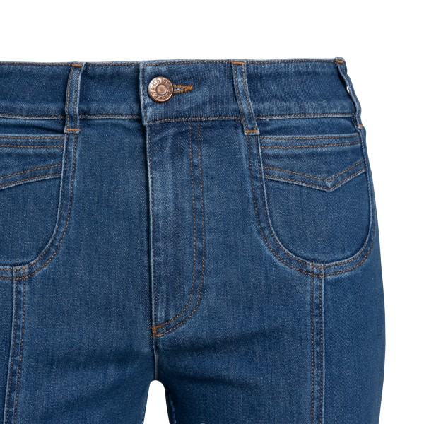 Flared blue jeans                                                                                                                                      SEE BY CHLOE