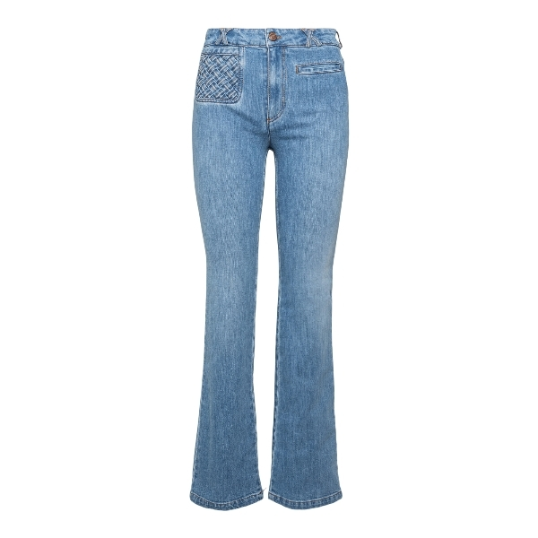 Flared jeans with interwoven pocket                                                                                                                   See by chloe CHS21SDP01 front