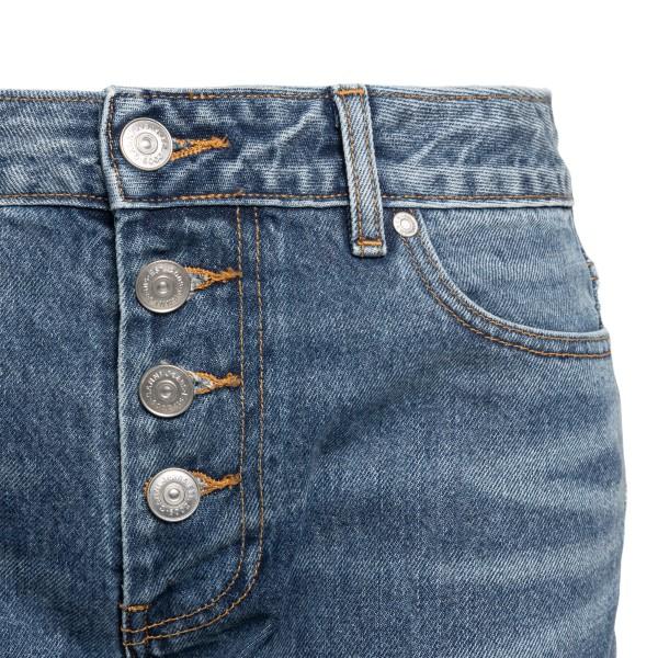 Straight leg blue jeans with logo                                                                                                                      GANNI