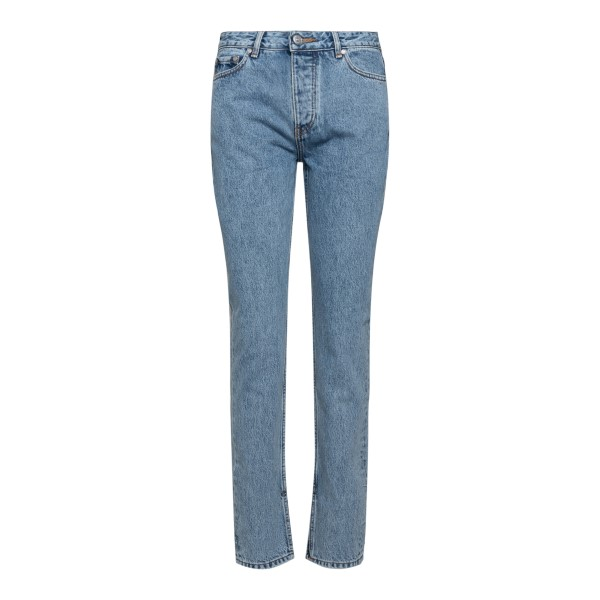 Straight jeans with brand name print                                                                                                                  Ganni F5721 back