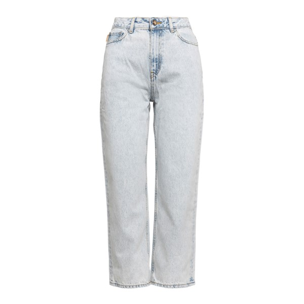 Jeans crop chiari effetto delavé                                                                                                                      Ganni F5771 retro