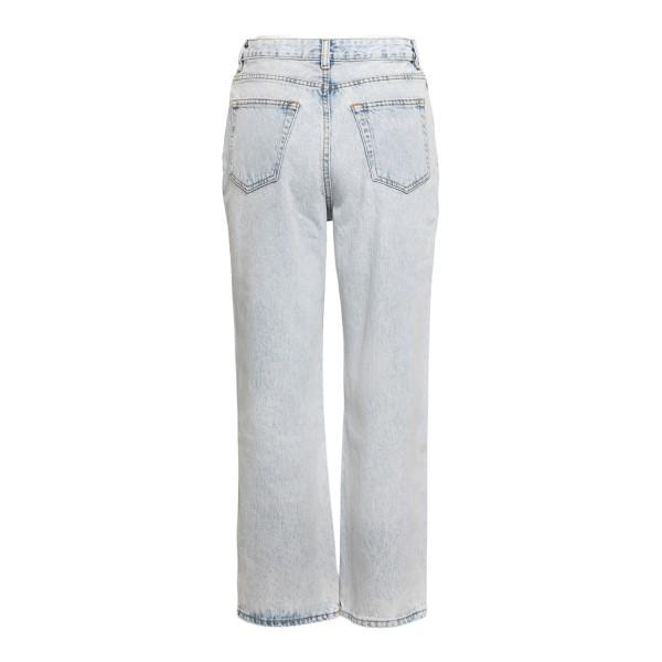 Jeans crop chiari effetto delavé                                                                                                                       GANNI                                              GANNI