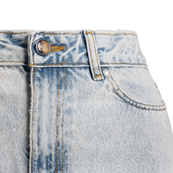 Faded effect light cropped jeans                                                                                                                       GANNI