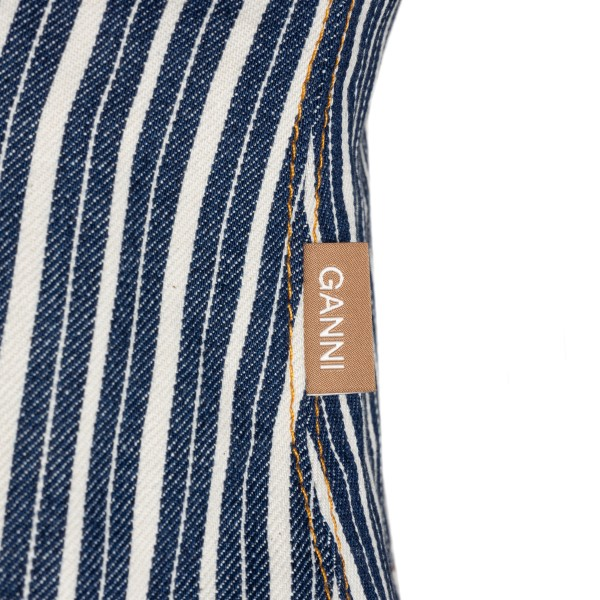 Blue and white striped top                                                                                                                             GANNI