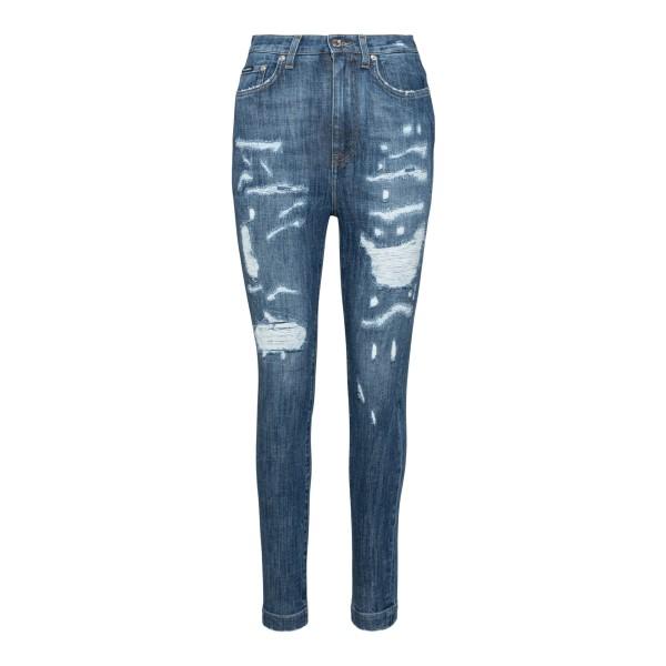 Jeans blu con effetto vissuto                                                                                                                         Dolce&gabbana FTBXHD retro