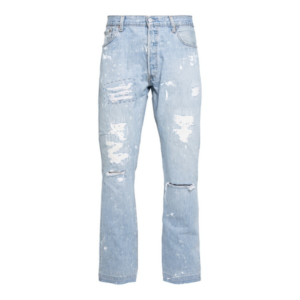 Light blue jeans with rips                                                                                                                            Gallery dept. GDIND5052 front