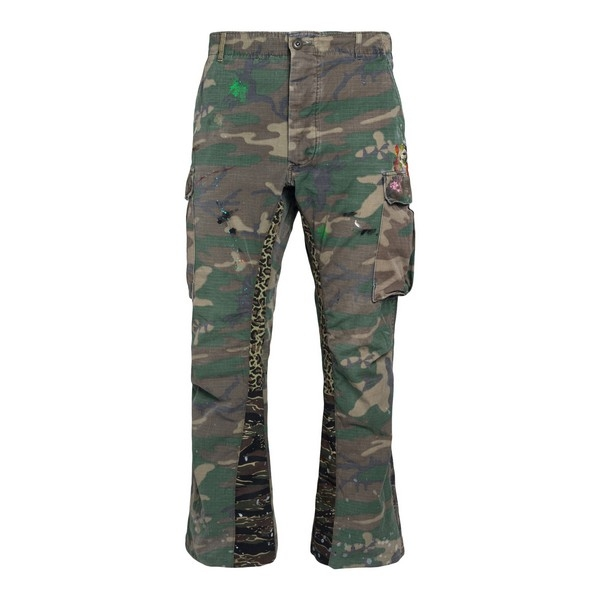 Camouflage flared trousers                                                                                                                            Gallery dept. GDLA5360F front