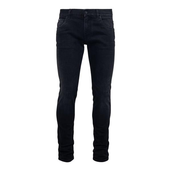 Jeans neri effetto schiarito                                                                                                                          Dolce&gabbana GY07LD fronte