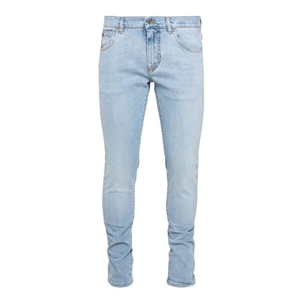 Jeans dritti in denim azzurro chiaro                                                                                                                  Dolce&gabbana GY07LD retro